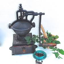 Old Fashioned Coffee Grinder Rare French Antique Peugeot Frères A2 Cast Iron Large Coffee
