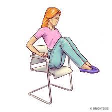 exercice au bureau 6 exercices pour le ventre à faire au bureau sur une chaise