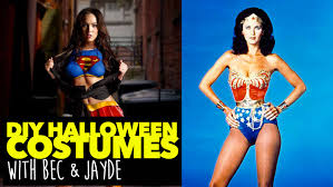 the best diy halloween costumes superwoman and wonder woman
