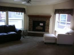 charming white brown wood cool design brick fireplace surround