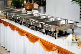 how to set a buffet table with chafing dishes catering wedding stock image image of served delicious 48648155