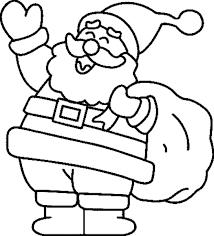 dibujos animados de papanoel dibujos de navidad para colorear