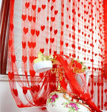 wedding backdrop curtain love heart tassel screens room divider