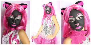 Monster High Doll Halloween Costumes by Catty Noir Monster High Halloween Makeup Tutorial Youtube