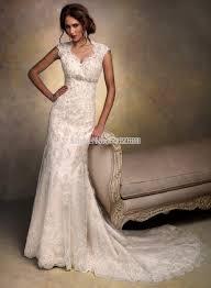 aliexpress com buy cap sleeves open back lace wedding dress