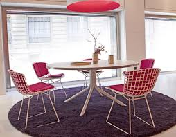 Bertoia Dining Chair Bertoia Side Chair With Back Pad Seat Cushion Hivemodern
