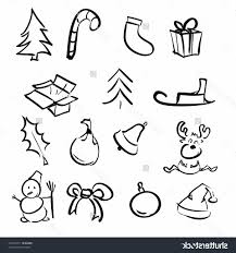 simple christmas drawing christmas simple objects cartoon sketch