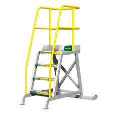 Ibc Stair Design Tilt And Roll Work Platform And Rolling Stairs Erectastep Tr Series