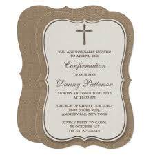 confirmation invites metallic cross holy communion or confirmation card zazzle