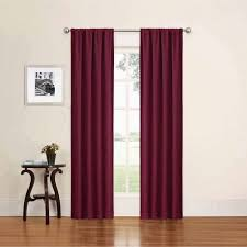 Sheer Maroon Curtains Sheer Curtains Walmart