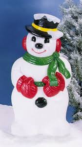 icy snowman with hat lawn and garden decorations