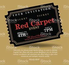 Event Invitation Card Vintage Style Black Simple Carpet Event Ticket Invitation Template