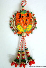 Best Ganesha Wall Hanging Images On Pinterest Mural Art - Indian wall hanging designs