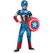 Captain Halloween Costume Avengers Assemble Deluxe Captain America Boys U0027 Child Halloween