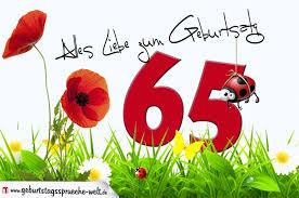 geburtstagssprüche 65 geburtstagskarte mit blumenwiese zum 65 geburtstag
