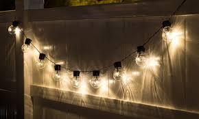 led edison string lights socialite 20 solar patio edison led string lights 1 2 or 4