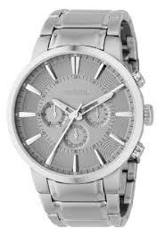 fossil silver bracelet images Fossil mens fs4359 stainless steel bracelet silver analog dial jpg