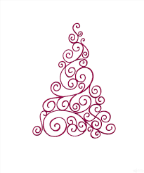 scroll christmas tree drawing designs embroidery design home