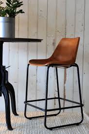 leather bar stool with back bonners furniture