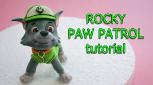 rocky paw patrol cake topper fondant tutorial cane