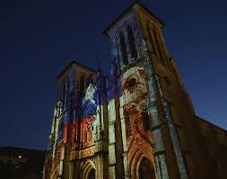 san fernando cathedral light show fernando cathedral light show photograph by gwen juarez