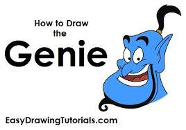 draw genie aladdin