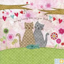 cats present lovely birthday card karenza paperie