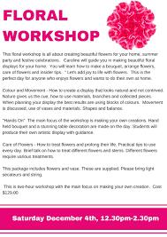 floral workshop u2014 the kirribilli centre