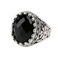 aliexpress buy mens rings black precious stones real hot men ring jewelry ancient gold color unique carved black
