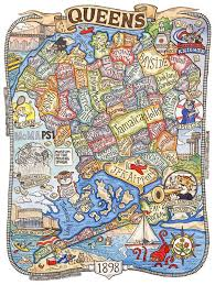 Queens Ny Map This Cartoonish Map Of Queens Actually Represents Local