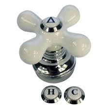 Eljer Faucet Handles Replacement by Danco 46004 Cross Arm Faucet Handle Porcelain Chrome Faucet