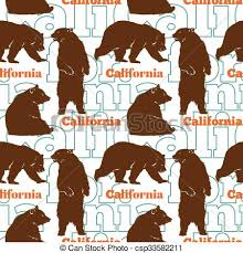 California travel icons images Vector clip art of travel california bears seamless pattern with jpg