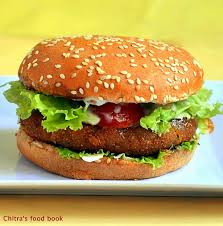 cuisine burger veg burger recipe mc donald s style burger patty recipe chitra s