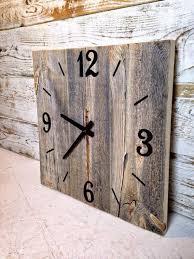 Grande Horloge Murale Carrée En Bois Vintage Achat Horloge Murale Géante Horloge Murale Geante Vintage 83cm 1807