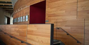 natural simple design of the interior wall cladding covering wood