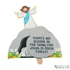 religious no gloom in tomb pop up craft kit 12 pk party supplies
