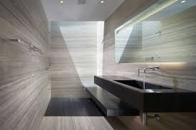 contemporary master bathroom with wall mounted sink by horst