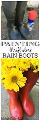Home Decor Thrift Store Painting Thrift Store Rain Boots Salvage Sister And Mister