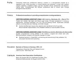 resume stunning resume for cna healthcare management and