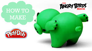 angry birds movie play doh making funny pig bad piggy