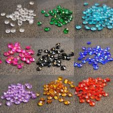 gems for table decorations 10mm confetti decorations table scatter acrylic crystal