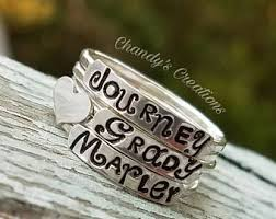 stackable mothers rings stackable name rings for mothers mothers ring kids name