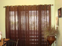 sliding glass door curtain rod ideas