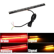 led light strip turn signal new dc 12v motorcycle tail brake stop turn signal integrated 33 led