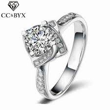 square shaped rings images Fashion jewelry square shape flower rose design wedding engagement jpg