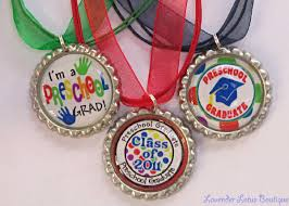 pre k graduation gift ideas 2011 preschool graduation bottlecap necklace with glitter sealer