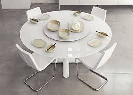 Cowell Round Glass Dining Table In Honey Oak Colour Ultimate - Round white dining room table set