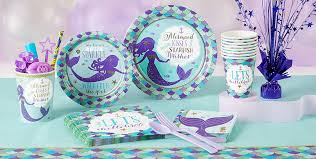 wishful mermaid party supplies mermaid birthday party party city