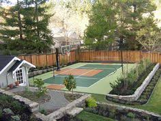 Backyard Sports Court by Backyard Sport Court Cost With Basketball Court Surfaces Cost