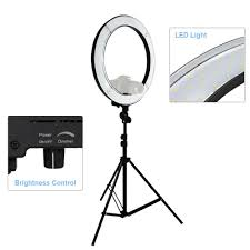 led studio lighting kit led 18 ring flash light dimmable smd led lighting kit 5500k